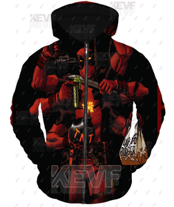 Deadpool Hoodies - Nothing Kills Deadpool Zip Up Hoodie