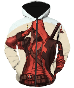Deadpool Hoodies - Slaying Forever Marvels Deadpool Zip Up Hoodie