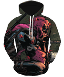 Deadpool Hoodies - Unbeatable Rregenerating Hero Marvels Deadpool Zip Up Hoodie