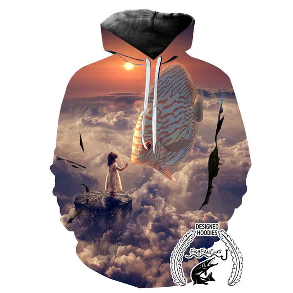 Fishing Hoodies - 3D Print Unisex Hoodie - Fish Dream