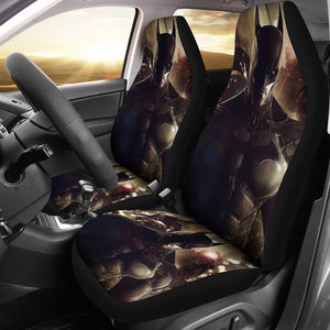 3D Car Seat Covers - All Over Print Universal Car Seat Covers Set of 2 - Batman Black
