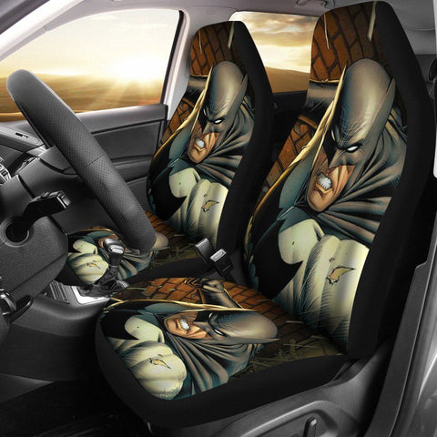 3D Car Seat Covers - All Over Print Universal Car Seat Covers Set of 2 - Batman Is Fighting