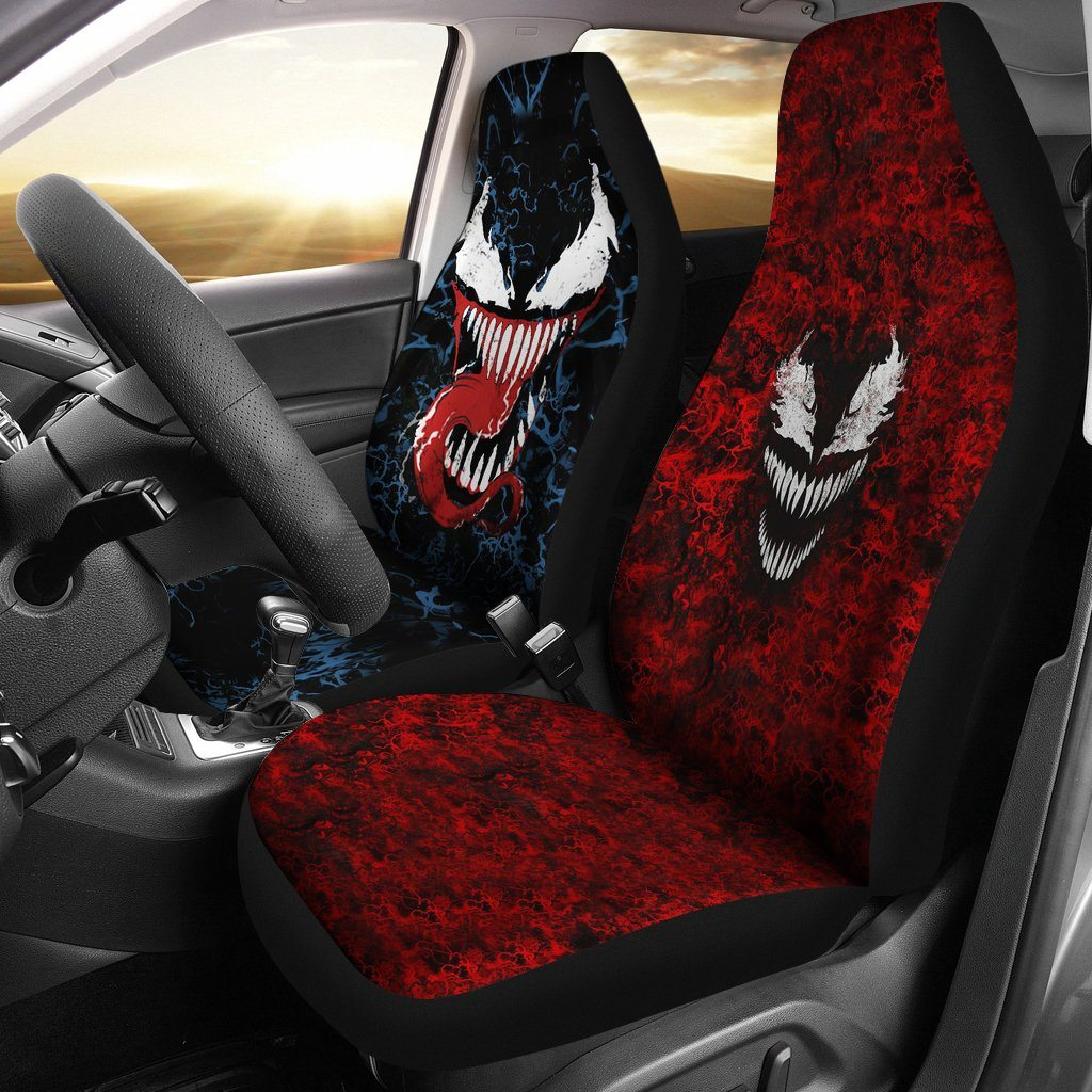 3D Car Seat Covers - Venom VS Carnage Car Seat Covers