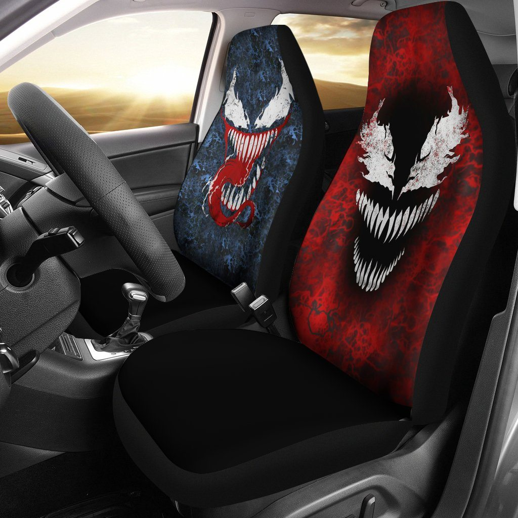 3D - Car Seat Covers - Venom VS Carnage Car Seat Covers