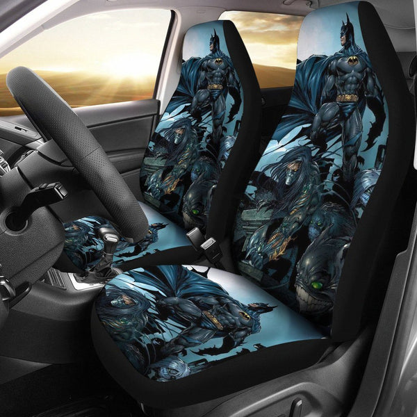 3D Car Seat Covers - All Over Print Universal Car Seat Covers Set of 2 - Batman