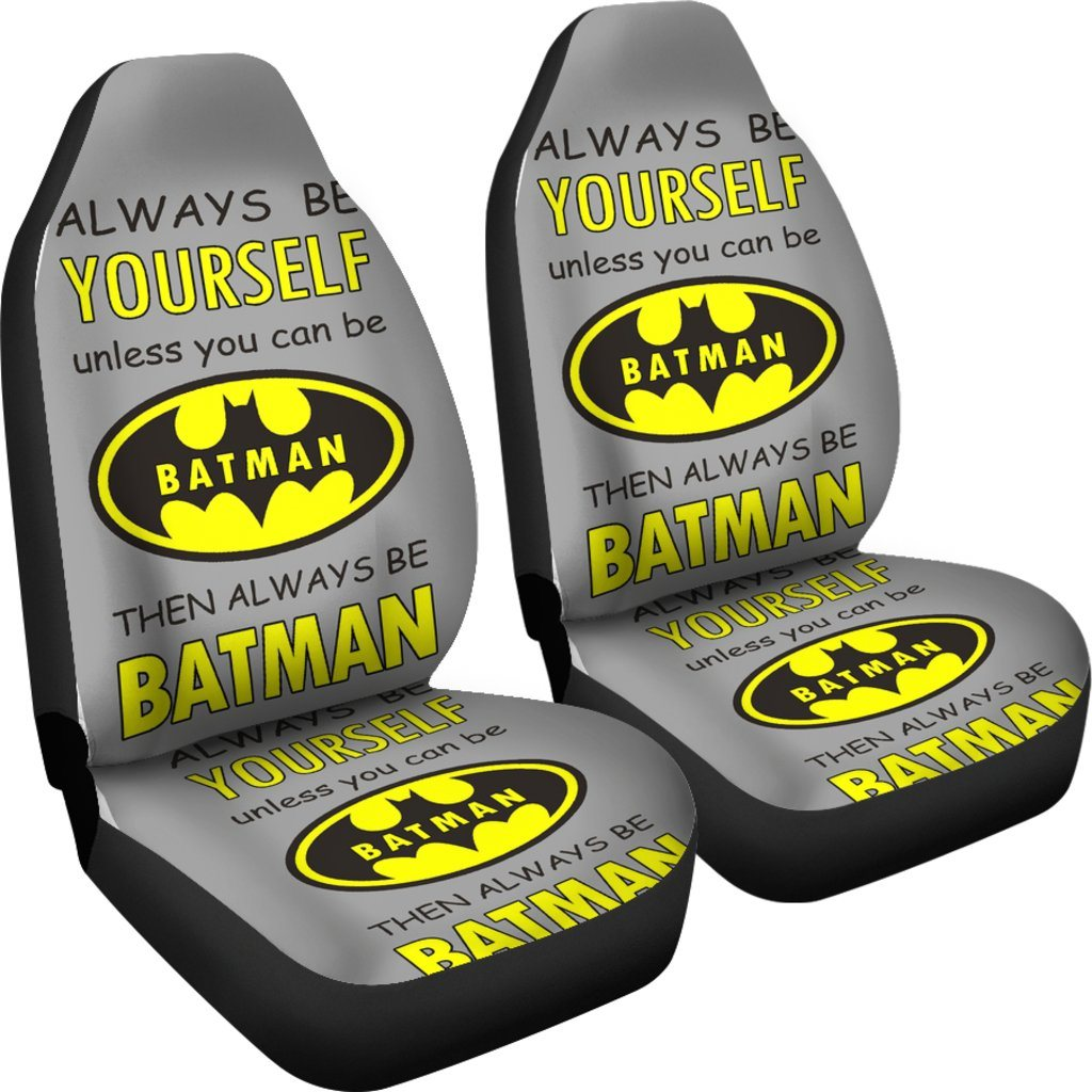 3D Car Seat Covers - All Over Print Universal Car Seat Covers Set of 2 - Be Batman