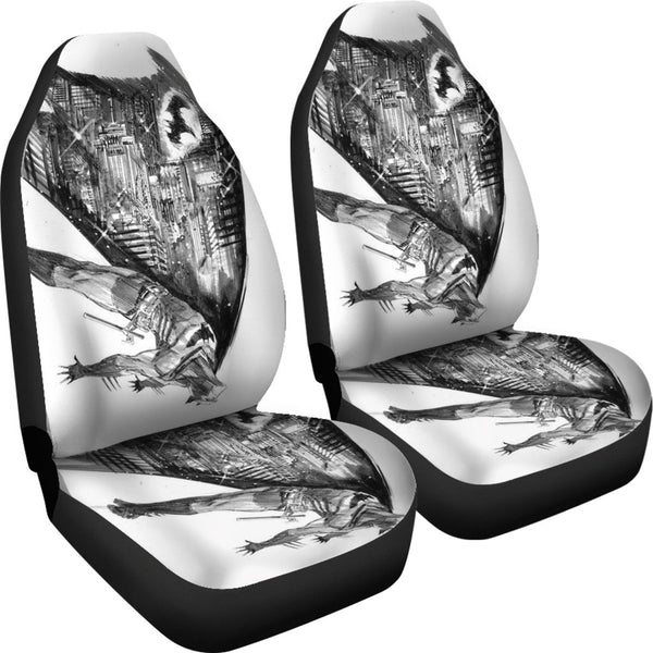 3D Car Seat Covers - All Over Print Universal Car Seat Covers Set of 2 - Hero Batman