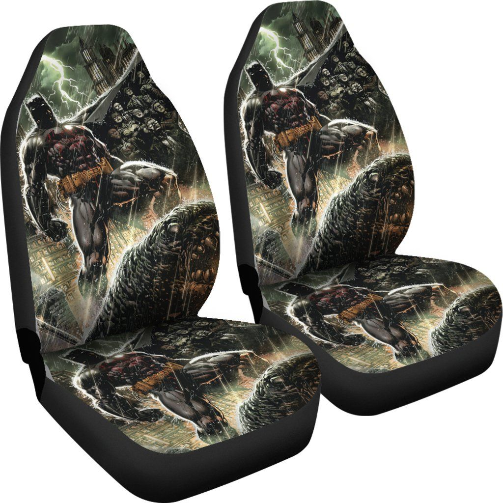 3D Car Seat Covers - All Over Print Universal Car Seat Covers Set of 2 - Batman In the War