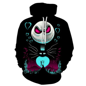Jack Skellington Hoodies - Nightmare Before Christmas Pull Over Hoodie A - Jack Skellington Cloths