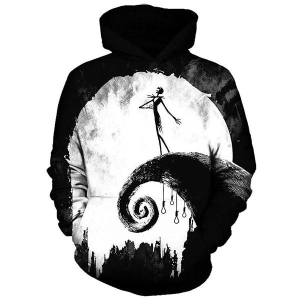 Jack Skellington Hoodies - Nightmare Before Christmas Full Moon Pull Over Hoodie