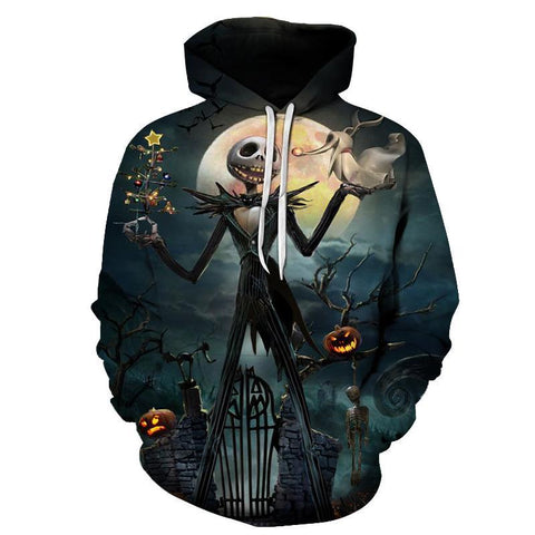 Jack Skellington Hoodies - Nightmare Before Christmas Pumpkin King Pull Over Hoodie - Jack Skellington Cloths
