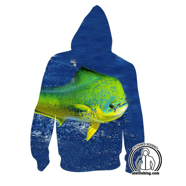 Fishing Hoodies - 3D Print Unisex Pull Over Hoodies - Mahi Mahi