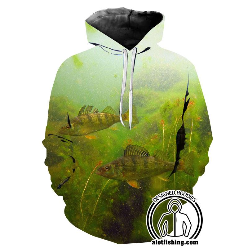 Fishing Hoodies - 3D Print Unisex Pull Over Hoodies - Perch