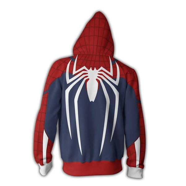 Spiderman Hoodies - Spider Man Zip Up Hoodie