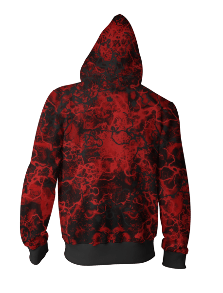 Venom Hoodies - Venom vs. Carnage 3D Zip Up Hoodie