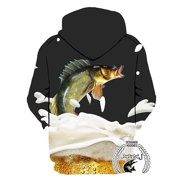 Fishing Hoodies - 3D Print Unisex Zip Up Hoodies - Walleye&Beer
