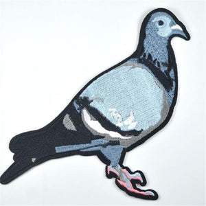 Pigeon Embroidered Clothes Patch