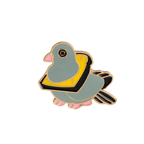 Crazy Street Pigeon Pin Badge