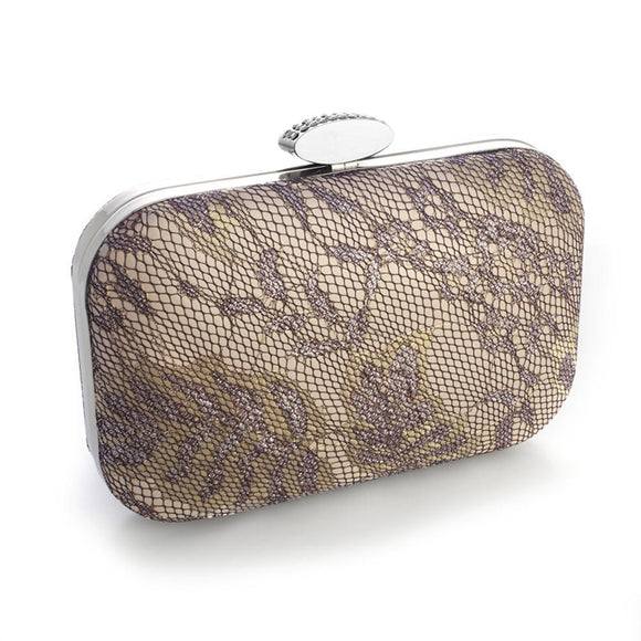 Lacey Evening Minaudiere with Champagne Shimmer - Elegant Bridal Designs