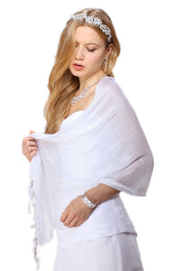 Luxurious Mesh Evening or Prom Shawl or Wrap - Elegant Bridal Designs