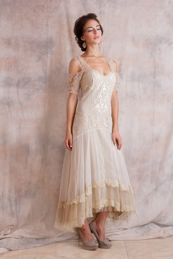 Nataya 40153 Venetian Cream Wedding Dress - Elegant Bridal Designs