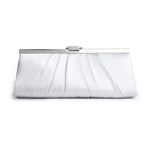 Sleek Framed Satin Wedding Purse - Elegant Bridal Designs
