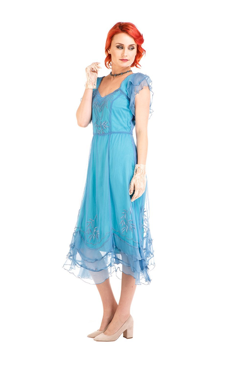 Nataya AL-284 Olivia 1920s Flapper Style Party Dress in Turquoise ...