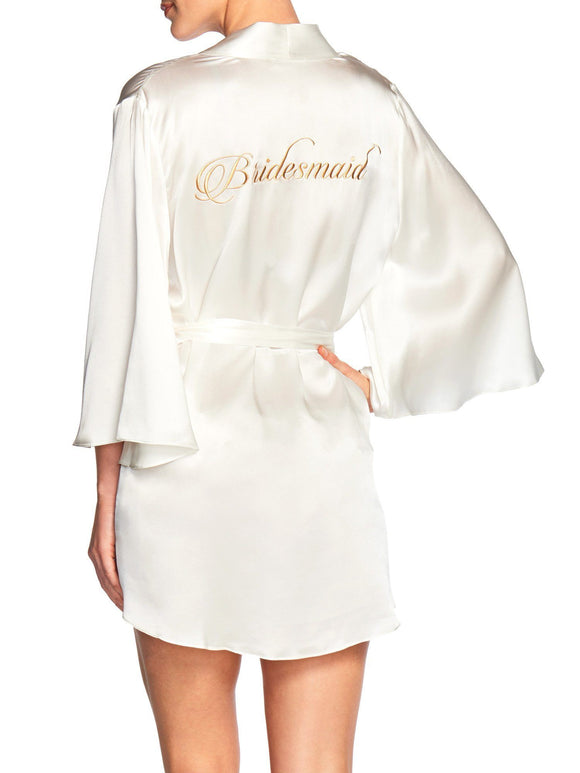 Naked Princess Silk Bridesmaid Robe - Elegant Bridal Designs