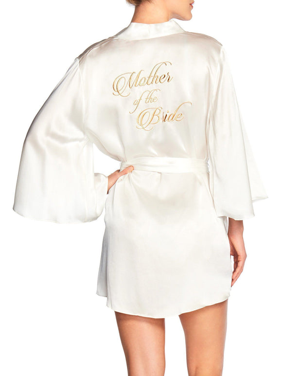 Naked Princess Mother of the Bride Silk Robe - Elegant Bridal Designs