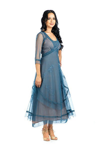 Nataya CL-163 Mary Vintage Style Party Dress in Azure - Elegant Bridal Designs