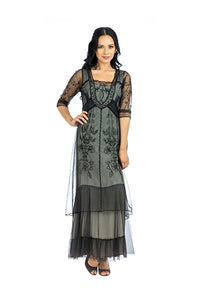 Nataya CL-201 Victoria Vintage Style Party Dress in Black - Elegant Bridal Designs