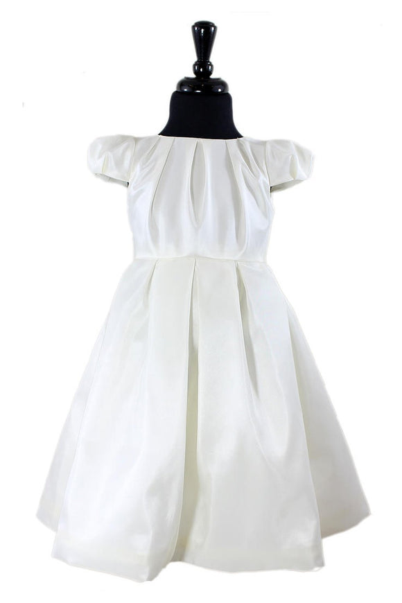 Chelsea Flower Girl Dress in White or Ivory - Elegant Bridal Designs