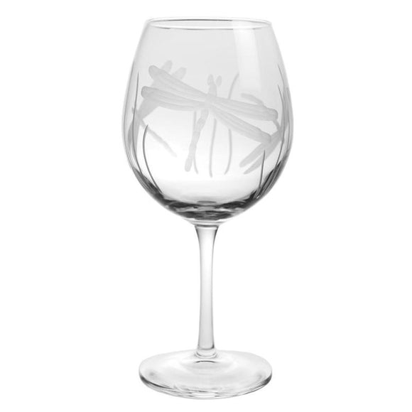 Rolf Glass Dragonfly Balloon 18 oz. Red Wine Glasses (set of 4) - Elegant Bridal Designs