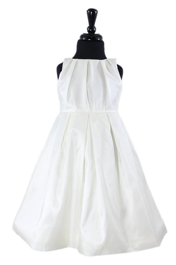 Farren Flower Girl Dress in White or Ivory - Elegant Bridal Designs