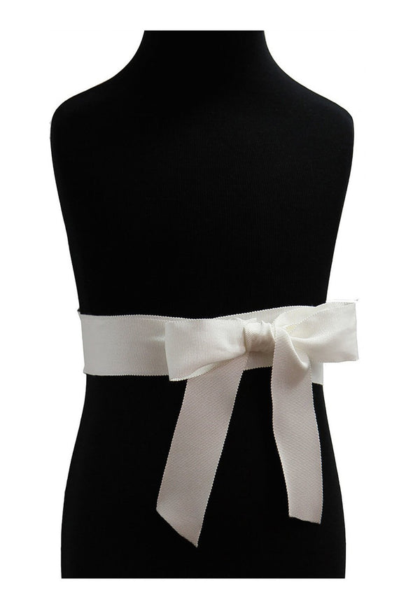 Lille Couture Grosgrain Satin Ribbon Sash