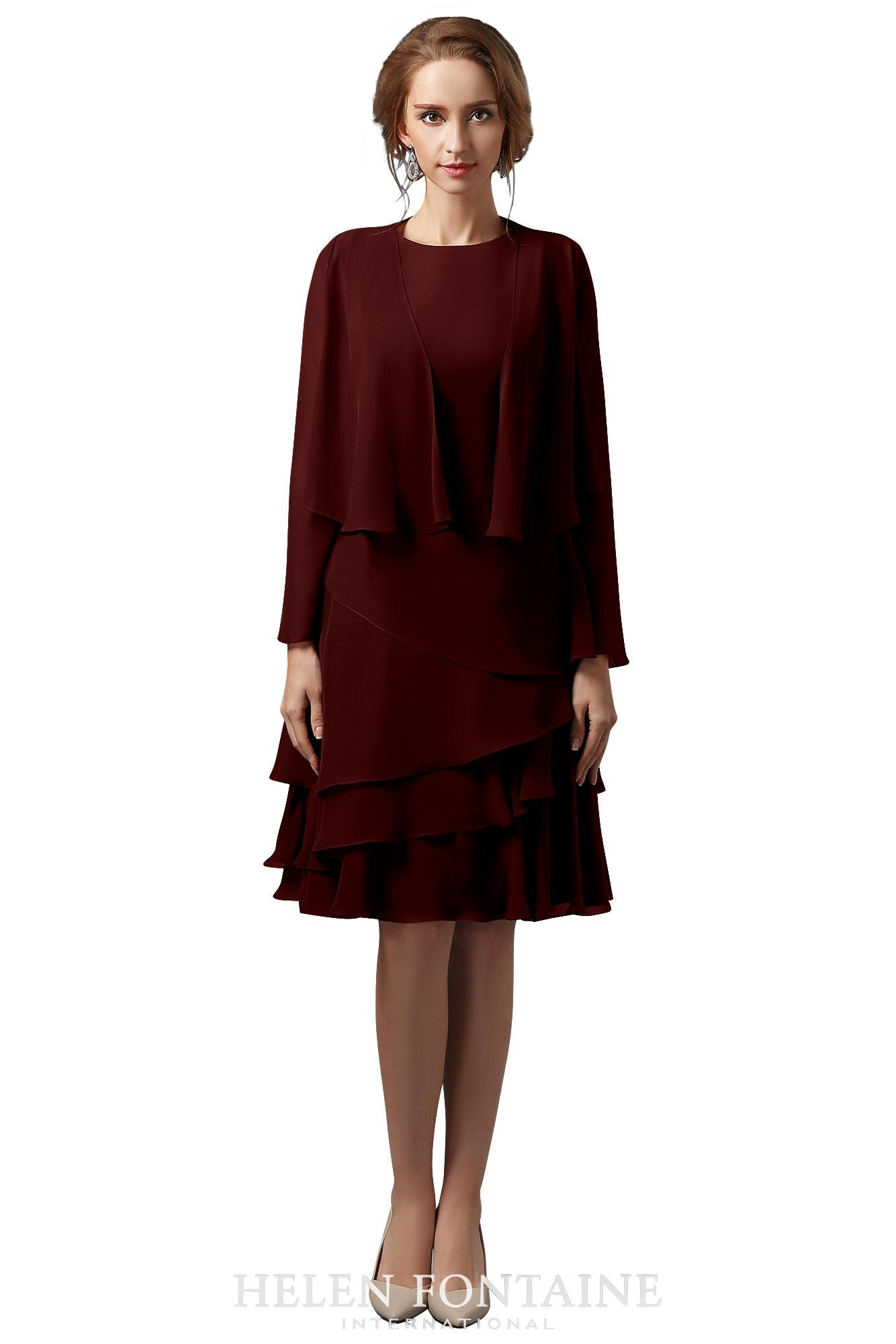f2dc3572c00c Mother Of The Bride Dresses Short With Jacket | Saddha