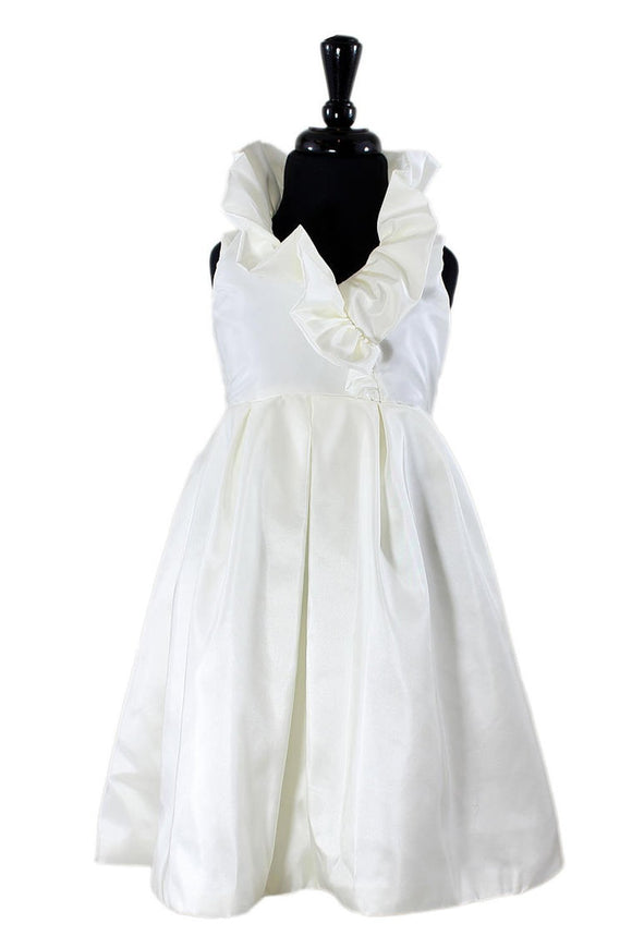 Hayden Flower Girl Dress in White or Ivory - Elegant Bridal Designs