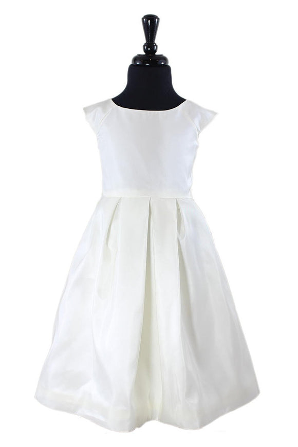 Payton Flower Girl Dress in White or Ivory - Elegant Bridal Designs