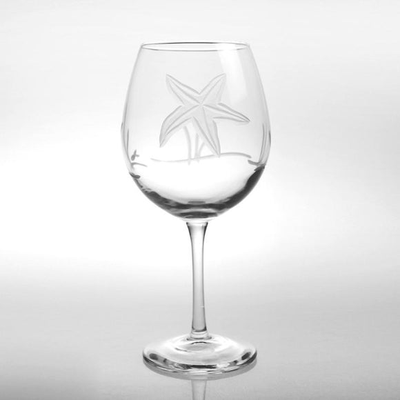 Rolf Glass Starfish Balloon 18 oz. Red Wine Glasses (set of 4) - Elegant Bridal Designs