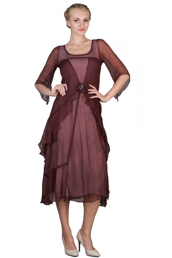 Nataya 10709 Women's 1920's Vintage Style Great Gatsby Dress in Garnet - Elegant Bridal Designs