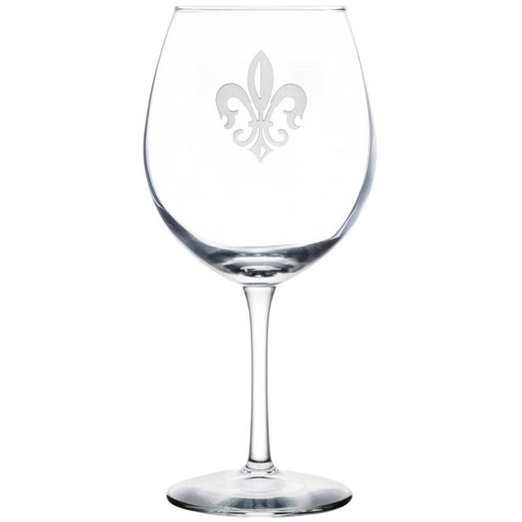 Rolf Glass Fleur De Lis Balloon 18 oz. Red Wine Glasses (set of 4) - Elegant Bridal Designs