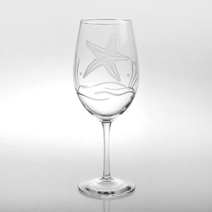 Rolf Glass Starfish All Purpose 18 oz. Wine Glasses (Set of 4) - Elegant Bridal Designs