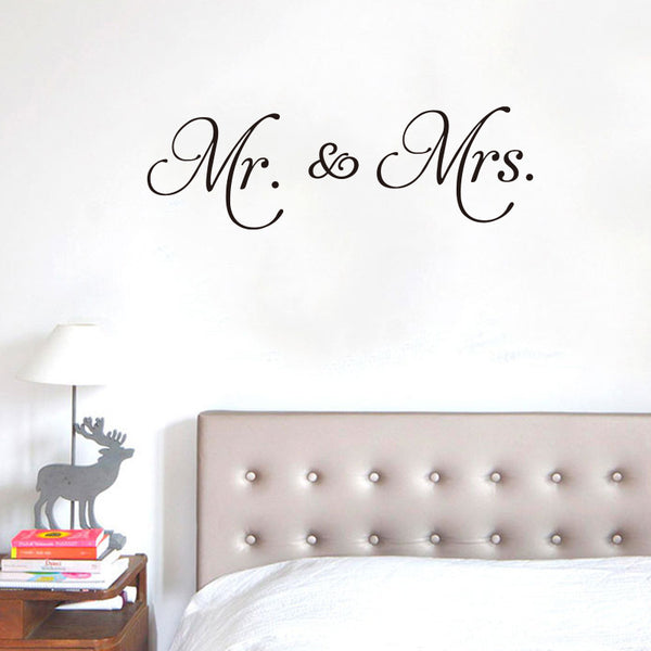 Mr & Mrs Love Wall Decal