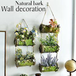 Hanging Bark Plant Basket