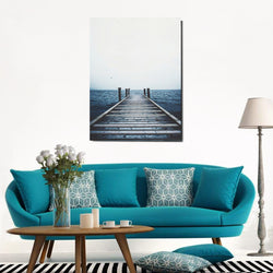 Dark Blue Sea Landscape Canvas Nordic Poster Wall Art Print Home Decor 30x42cm