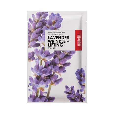 The Skin Nutrition Bar - Best of Korean Beauty in The Netherlands Manefit Lavender Wrinkle + Wrinkle Sheet Mask