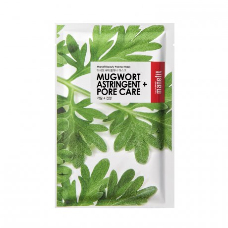 The Skin Nutrition Bar - Best of Korean Beauty in The Netherlands Manefit Mugwort Astringent + Pore Care Sheet Mask