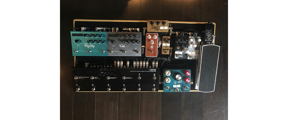 Strymon Guitar Pedals on Pedal Board Setup