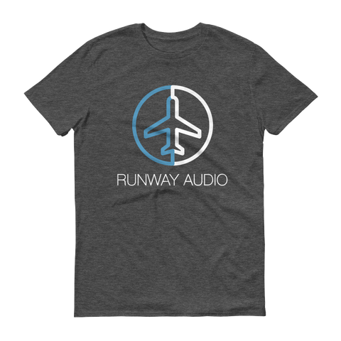 Runway Audio Logo on Grey T-Shirt