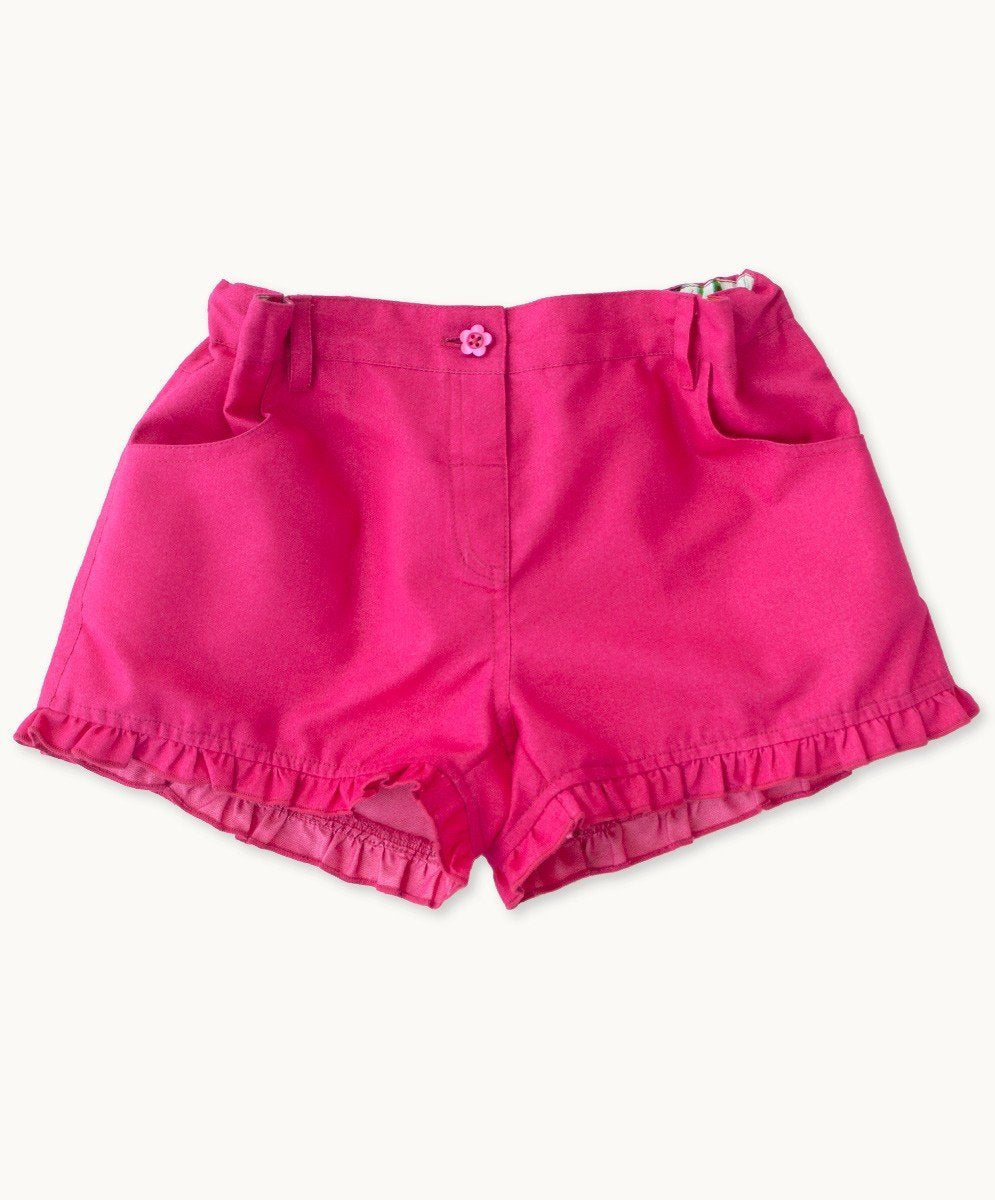 Hot Pink Ruffle Shorts - Visible.Clothing
